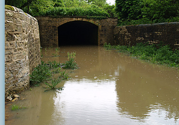Recent Flooding at the Dark Arch