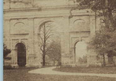 Earliest Known photograph of the Triumphal Arch, Late 19th Century