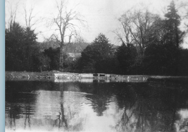 The boat house and the former lake on the cock beck for Koi pond builders yorkshire