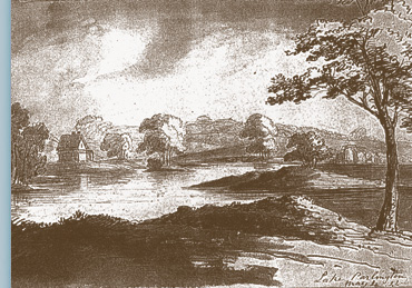 Sketch of the Former Lake from the 1840s