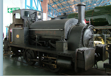 A saddleback engine similar to the MW Empress at York Museum